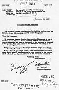 Marshall to President Truman