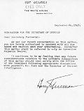 Truman to Forrestal